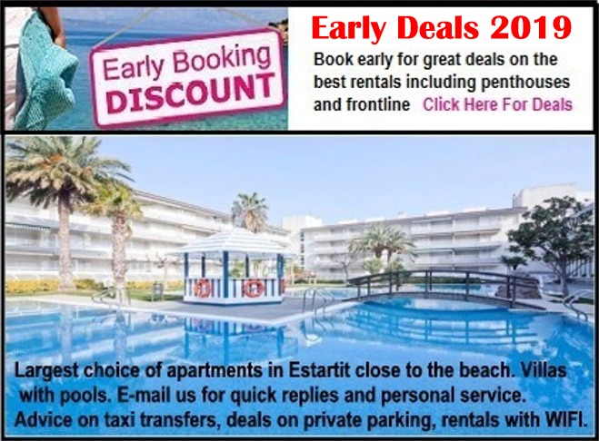 Early Booking Offers, Discounts and Summer Deals 2019